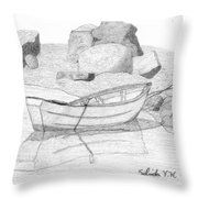 Dory In The Cove Throw Pillow