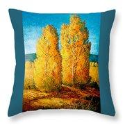 Dos Arboles De Taos Throw Pillow
