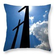 Dos Cruces Throw Pillow