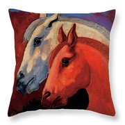 Dos Equus Throw Pillow by Bob Coonts