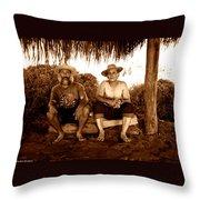 Dos Hombres Throw Pillow