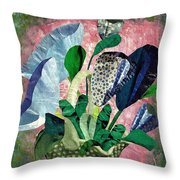 Dot Bouquet Throw Pillow