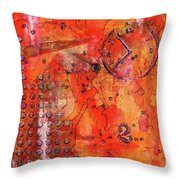 Dot Of Time Throw Pillow