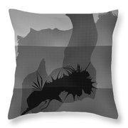 Dot Splat Strata Throw Pillow