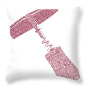 Doted Corkscrew With Cork Throw Pillow