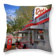Dot's Diner In Bisbee Throw Pillow