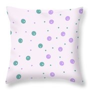 Dots In Dots Throw Pillow