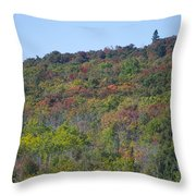 Dots Of Fall Colors Throw Pillow