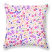 Dots On Pink Background Throw Pillow