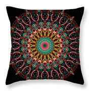 Dotted Wishes No. 4 Mandala Throw Pillow