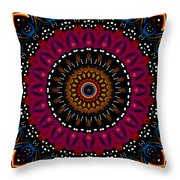 Dotted Wishes No. 5 Kaleidoscope Throw Pillow