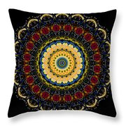 Dotted Wishes No. 6 Mandala Throw Pillow
