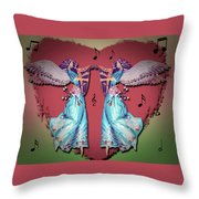Double Angel Throw Pillow