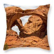 Double Arch - Arches National Park Utah Throw Pillow