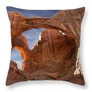Double Arch In Late Afternoon Throw Pillow by Mike McGlothlen