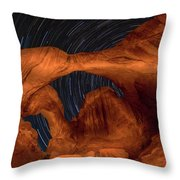 Double Arch Star Trails Throw Pillow