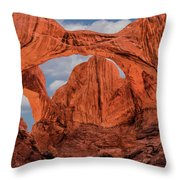 Double Arches At Arches National Park Throw Pillow