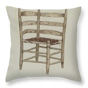 Double Back Chair Throw Pillow