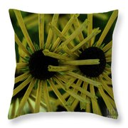 Double Bloom Throw Pillow