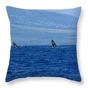Double Breach Throw Pillow