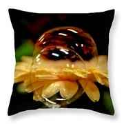 Double Bubble Flower Throw Pillow