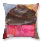 Double Chocolate Cupcake- Art By Linda Woods Throw Pillow