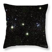 Double Cluster, Ngc 869 And Ngc 884 Throw Pillow