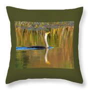 Double-crested Cormorant - 2 Throw Pillow
