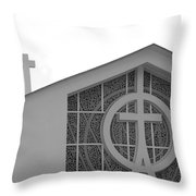 Double Cross Church Throw Pillow