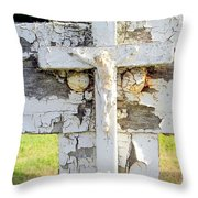 Double Crossed Throw Pillow