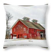 Double Cupola Barn Throw Pillow
