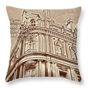 Double Decker View Quote Throw Pillow