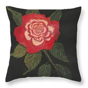 Double Delight Rose Throw Pillow