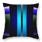 Double Edged Blue Throw Pillow