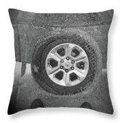 Double Exposure Manhole Cover Tire Holga Photography Throw Pillow