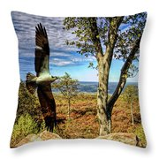Double Exposure Osprey And High Point Nj Throw Pillow