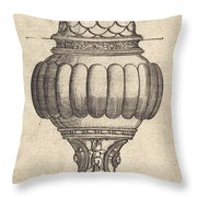 Double Goblet With Oval Decorations Throw Pillow