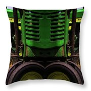 Double Green Machines Throw Pillow