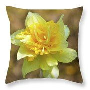 Double Headed Daffodil Throw Pillow