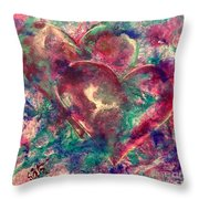 Abstract Double Hearts Throw Pillow
