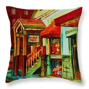Double Hook Book Nook Throw Pillow