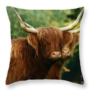 Double Horny Portrait Throw Pillow