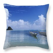 Double Hull Canoe Throw Pillow by Joss - Printscapes