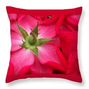 Double Knockout Rose Throw Pillow
