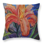 Double Lily Throw Pillow