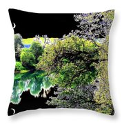 Double Moon Throw Pillow