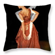 Double Personality Throw Pillow