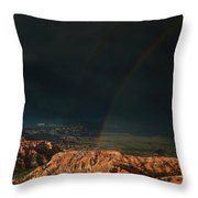 Double Rainbow Over Hoodoos Bryce Canyon National Park Throw Pillow