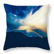 Double Rainbow Over Provo, United States Throw Pillow