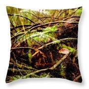 Double Rainforest Throw Pillow